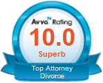 Badge for Avvo Rating 10.0 Superb - Top Attorney Divorce