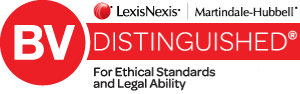 Badge for LexisNexis / Martindale-Hubbell BV Distinguished for Ethical Standards and Legal Ability